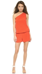 Ramy Brook Lulu Romper Orange Nectar