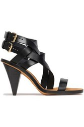 Iro Woman Riara Buckled Leather Sandals Black
