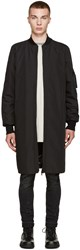 Marcelo Burlon Black Reversible Rahue Coat