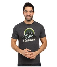Marmot Pikes Peak Short Sleeve Tee Charcoal Heather Men's Clothing Gray