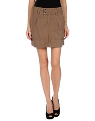 Gaudi' Mini Skirts Khaki