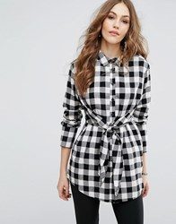 Warehouse Gingham Tie Front Shirt Multi