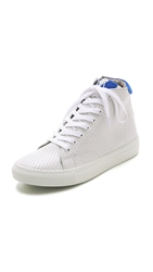 Modern Vintage Gladys High Top Sneakers White Royal