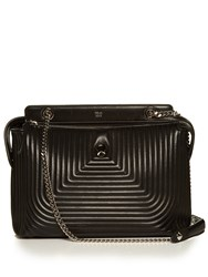 Fendi Dotcom Quilted Leather Bag Black