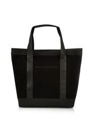 Balenciaga Logo Cotton Canvas Tote
