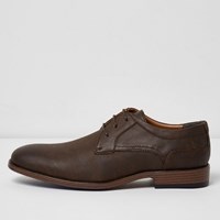 River Island Mens Brown Embossed Formal Shoes