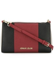 Armani Jeans Colour Block Crossbody Bag Red