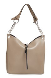 Jimmy Choo 'Small Raven' Nappa Leather Shoulder Bag Beige Light Khaki