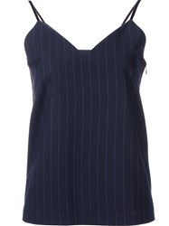 H Beauty And Youth. Saxon Stripe Camisole Blouse Blue