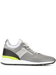 Tod's Perforated Lace Up Sneakers Grey