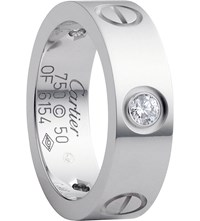 Cartier Love 18Ct White Gold And Diamond Ring