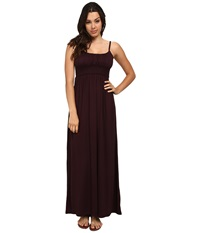 Culture Phit Lina Braided Maxi Dress Dark Purple Women's Dress