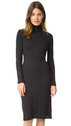 Petit Bateau 2X2 Ribbed Turtleneck Dress Noir