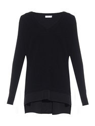 Vince V Neck Cashmere And Wool Blend Sweater