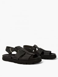 Lanvin Black Leather Sandals