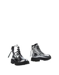 Bb Washed By Bruno Bordese Ankle Boots Silver