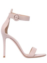 Gianvito Rossi 100Mm Portofino Leather Sandals Pink