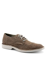 Sperry Harbor Canvas Wingtip Oxfords Brown