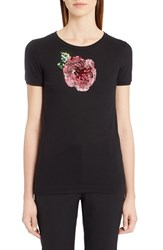 Dolce And Gabbana Women's Sequin Cotton Tee