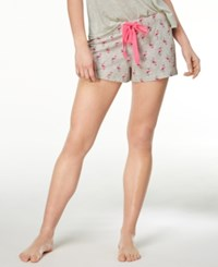 By Jennifer Moore Printed Cotton Boxer Shorts Created For Macy's Flamingos