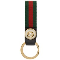 Gucci Red And Green Web Keychain