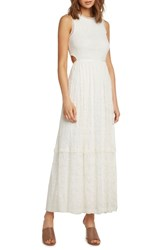 Willow And Clay Lace Maxi Dress Ivory