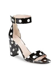 Kate Spade Idabelle Too Ankle Strap Leather Sandals Black White