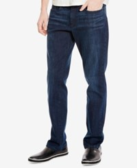 Kenneth Cole New York Men's Stretch Dark Indigo Wash Skinny Jeans
