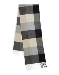 Lord And Taylor Fringe Trim Cashmere Scarf Natural