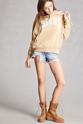 Forever 21 Faux Suede High Top Sneakers Camel
