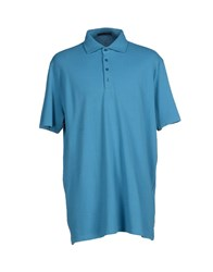 Les Copains Topwear Polo Shirts Men Pastel Blue