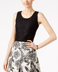 Charter Club Sleeveless Lace Top Only At Macy's Deep Black