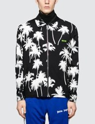 Msgm Palm Tree Print Zip Blouson Jacket