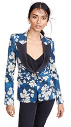 Smythe Blocked Lapel Blazer Blue Hawaii