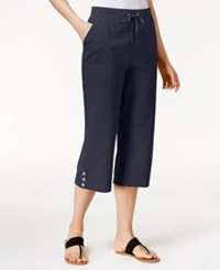 Karen Scott Drawstring Capris Only At Macy's Intrepid Blue