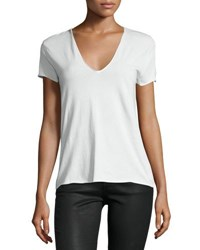 Zadig And Voltaire V Neck Love Inset Tee White