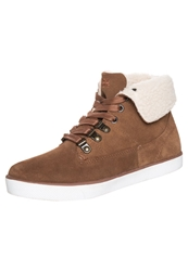 Pier One Hightop Trainers Dark Cognac
