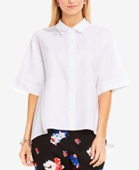 Vince Camuto Oversized High Low Blouse Ultra White