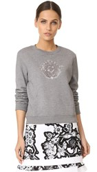 Carven Long Sleeve Sweatshirt Gris Chine Fonce