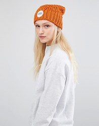Cheap Monday Knitted Beanie In Orange Dirty Orange