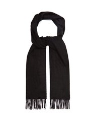 Dunhill Fringed Cashmere Scarf Black
