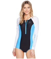 Volcom Simply Solid Bodysuit Coastal Blue Women's Swimsuits One Piece