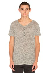 Scotch And Soda Drapey Granddad Tee Grey