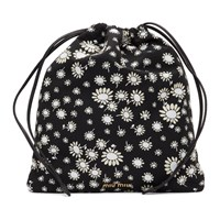 Miu Miu Black Flowers Drawstring Pouch