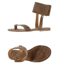 Cycle Thong Sandals Camel
