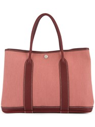 Hermes Vintage Garden Party Tote Red