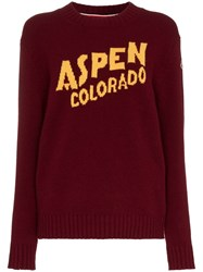 Moncler Aspen Cashmere And Wool Sweater Red