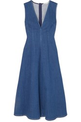 Stella Mccartney Denim Midi Dress Blue