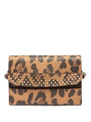 Christian Louboutin Loubiblues Leopard Print Leather Clutch Bag Leopard