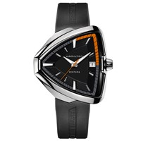 Hamilton H24551331 Men's Ventura Elvis80 Triangular Date Rubber Strap Watch Black